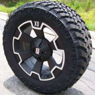 24 XD THUMP WHEELS 38 NITTO TRAIL GRAPPLER TIRES GMC SIERRA 2500 3500