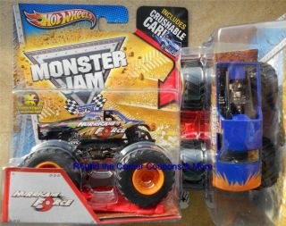 2013 Hurricane Force Hot Wheels Monster Jam 1 64 Scale Truck Crush Car