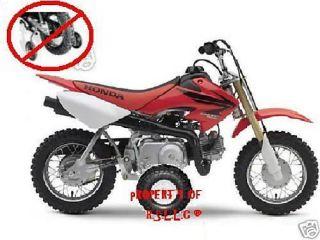 Set of Honda 50 Motorcycle Training Wheels CRF50 XR50 Z50 Z50A