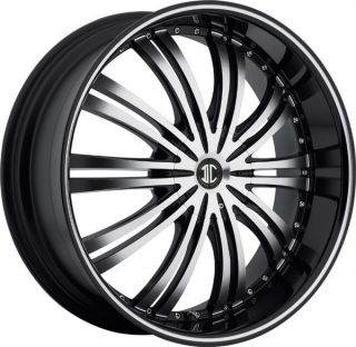 26 inch 2CRAVE NO11 Black Wheels Rims 6x5 5 Sierra Yukon H3 Entourage