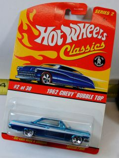 BENT CARD HOT WHEELS CLASSICS SERIES 2   1962 62 chevy BEL AIR BUBBLE