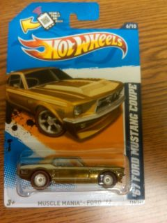 New 2012 Hot Wheels Super Treasure Hunt 67 Ford Mustang Coupe One Day