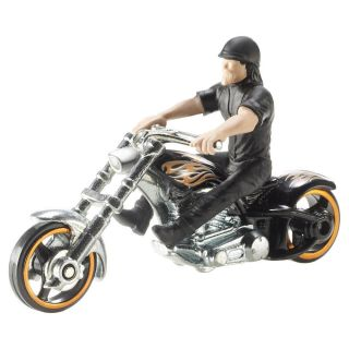 Hot Wheels 1 64 Scale Motorcycle with Rider Colors Styles Vary