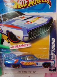 NEW CASE K 2012 i Hot Wheels 70 FORD TORINO 1970 #178 ★HW Racing