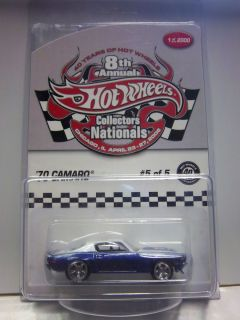 Hot Wheels 8th Nationals Convention Chicago Finale Car 70 Camaro