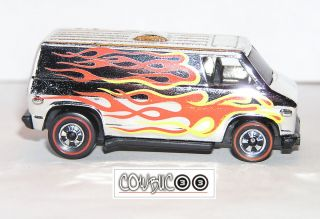 70s Hot Wheels Redline Super Van AMAZING CHROME SO COOL DISPLAYS NEAR
