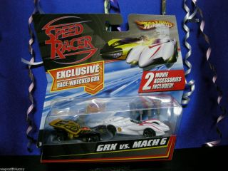 Hot Wheels Speed Racer Race Wrecked GRX Mach 6 1 64 Scale Accessories