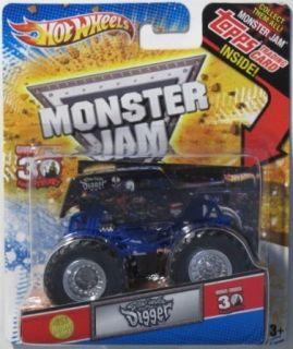 HOT WHEELS Monster Jam Son uva Digger 1 64 scale w TOPPS Trading Card
