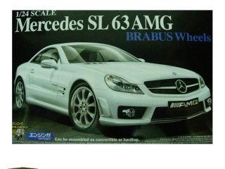 24 Aoshima Mercedes Benz SL63 AMG Brabus Wheels