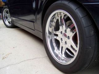 Polished Aluminum Rims BOZE 18x9 18x10 Deep Dish Lip Wheels 5x4 5