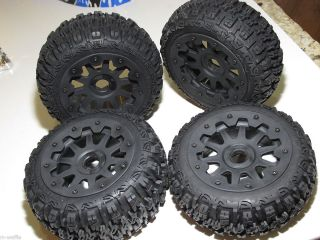 ROVAN 1 5 SCALE BAJA HPI 5B V2 BUGGY FRONT AND REAR TIRES WITH WHEELS