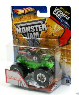 Hot Wheels Monster Jam Grave Digger Crushable Car 1 64 Scale New 2013