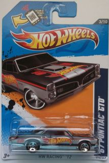 2012 Hot Wheels 67 Pontiac GTO Col 173 Black Version