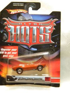 Hot Wheels Ultra Hots 67 Chevy Camaro Convertible