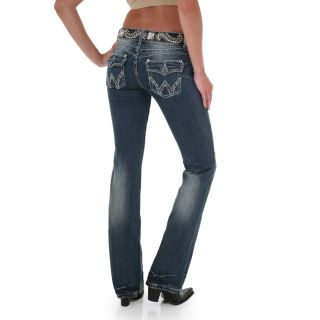 Womens Booty Up Low Rise Rhinestone Jeans in Tahoe Rim 11 12x36
