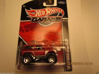 Pristine Carded Hot Wheels Garage Ford 05 20 67 Bronco
