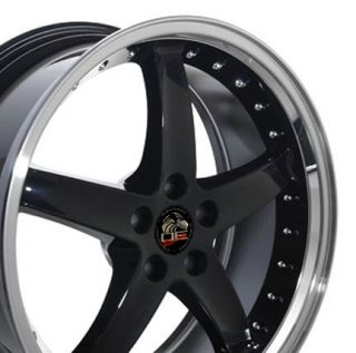 20 Black Cobra R Style Wheels Deep Dish Lip Fits Mustang® GT 94 04