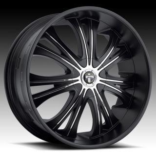 Mamba 26x9 5 Wheel SET Matte Black 26inch RIMS 5 LUG 6 LUG VEHICLES