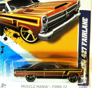 Hot Wheels Muscle Mania Ford 12 66 Ford 427 Fairlane N Case