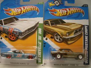 Hot Wheels 2012 Super Treasure Hunt 67 Ford Mustang & 2012 Reg. 69