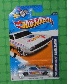 2012 Hot Wheels HW Racing 174 70 Dodge Hemi Challenger White