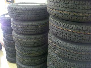 14 st205 75D14 F78 14 Bias Ply White Spoke Wheels Rims Set of 2