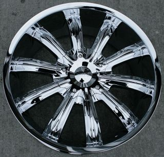 22 inch Incubus 765 Chrome Wheels Rims Jeep Patriot