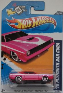 2012 Hot Wheels 70 Plymouth AAR Cuda Col 90 Pink Version