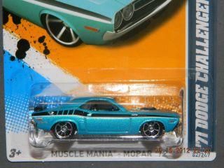 HW Hot Wheels 2012 Muscle Mania Mopar 2 10 71 Dodge Challenger