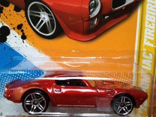 2012 Hot Wheels 73 Pontiac Firebird Trans Am Red