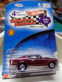 HOT WHEELS CARDED 2004 NATIONALS CONVENTION 68 CHEVY NOVA L.E. 2000