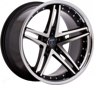 20 Rohana RC5 Black Machined Wheels Rims Fits Nissan 370Z 350Z