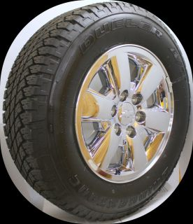 Silverado Z71 Tahoe Suburban Chrome 18 Wheels Rims Bridgestone Tires