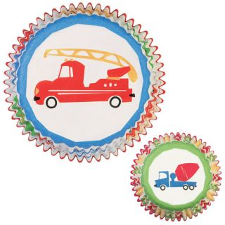 Wilton Cupcake Baking Liners Fire Dump Truck Wheels 75