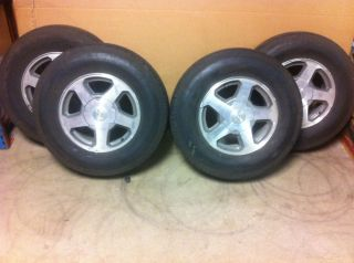 GMC Envoy 16 Aluminum Wheels Rims Tires Goodyear 235 75 16