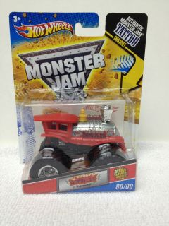 Hot Wheels Monster Jam Monster Truck Train Derailed 80/80 w/ Monster