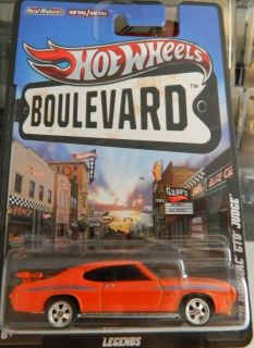 70 Pontiac GTO Hot Wheels 2012 Boulevard D Case New Release