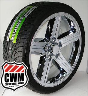 20x8 Iroc Z Chrome Wheels Rims 5x4 75 Tires 245 35ZR20 for Chevy 82 92