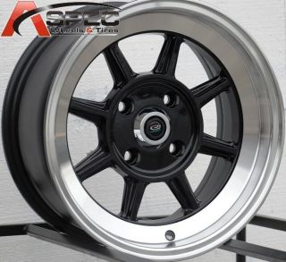 15x7 Rota Shakotan Wheels 4x114 3 Rim 4mm Fits AE86 Datsun 240 260