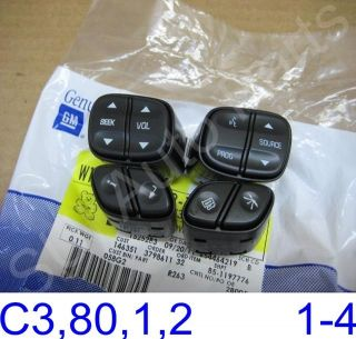 Silverado SUV Steering Wheel Switch Buttons C3 80 1 2 3Z Qty 4