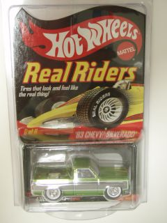 HOT WHEELS 83 CHEVY SILVERADO REAL RIDERS REDLINE CLUB PICKUP TRUCK