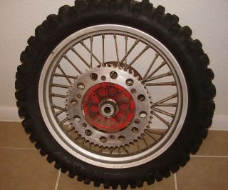 89 KTM 250 MXC Rear Tire Rim Sprocket Brake Rotor Vintage Motorcross