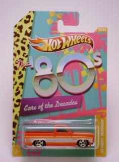 83 Chevy Silverado  Hot Wheels  Cars of the Decades  2012  MOMC
