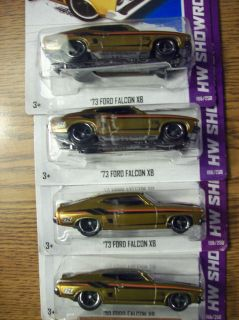 2013 Hot Wheels Super Treasure Hunt 73 Ford Falcon XB 4 Car Lot