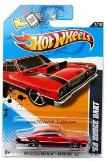 2012 Hot Wheels Muscle Mania Mopar 81 1968 Dodge Dart