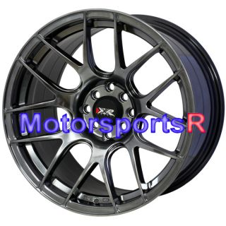 Chromium Black Rims Wheels Staggered 4x100 Stance 90 05 Mazda Miata