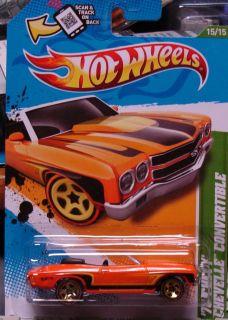 2012 Hot Wheels Treasure Hunt 70 Chevy Chevelle Convertible Combine