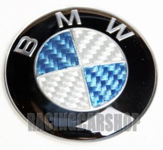 BMW Blue Carbon Fiber Steering Wheel Emblem E46 E60 E90