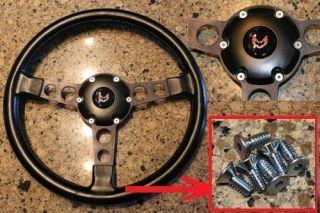 1970 81 Firebird Trans Am Formula Steering Wheel Screws Zinc Plated