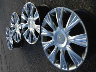 Genesis Sedan Stock Factory 18 Chrome Charcoal Wheels Rims Caps